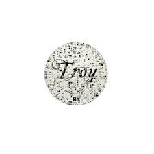 Troy, Matrix, Abstract Art Mini Button