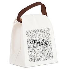Triston, Matrix, Abstract Art Canvas Lunch Bag