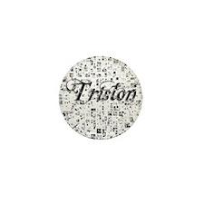 Triston, Matrix, Abstract Art Mini Button