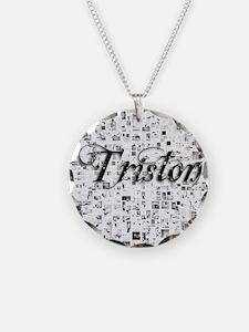 Triston, Matrix, Abstract Ar Necklace