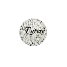Tyrese, Matrix, Abstract Art Mini Button