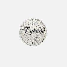 Tyrone, Matrix, Abstract Art Mini Button