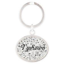 Tyshawn, Matrix, Abstract Art Oval Keychain