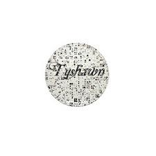 Tyshawn, Matrix, Abstract Art Mini Button