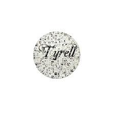 Tyrell, Matrix, Abstract Art Mini Button