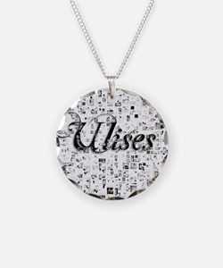 Ulises, Matrix, Abstract Art Necklace