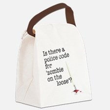 zombie on the loose Canvas Lunch Bag