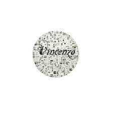 Vincenzo, Matrix, Abstract Art Mini Button