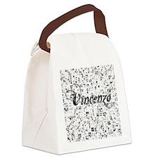 Vincenzo, Matrix, Abstract Art Canvas Lunch Bag