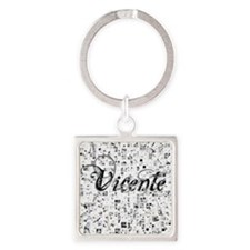 Vicente, Matrix, Abstract Art Square Keychain