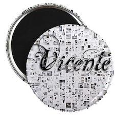 Vicente, Matrix, Abstract Art Magnet