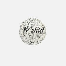 Wahid, Matrix, Abstract Art Mini Button