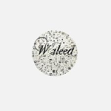 Waleed, Matrix, Abstract Art Mini Button