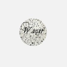 Waqar, Matrix, Abstract Art Mini Button