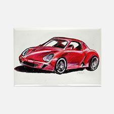 Red Porsche Rectangle Magnet