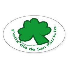 Feliz San Patricio Oval Decal