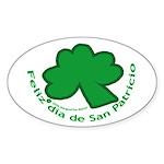 Feliz San Patricio Oval Sticker