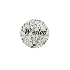 Weston, Matrix, Abstract Art Mini Button