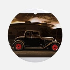 1932 black ford 5 window Ornament (Round)