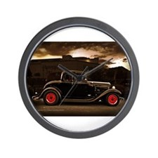 1932 black ford 5 window Wall Clock