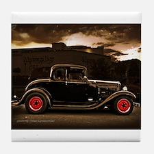 1932 black ford 5 window Tile Coaster