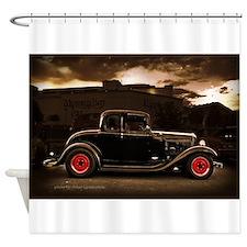 1932 black ford 5 window Shower Curtain