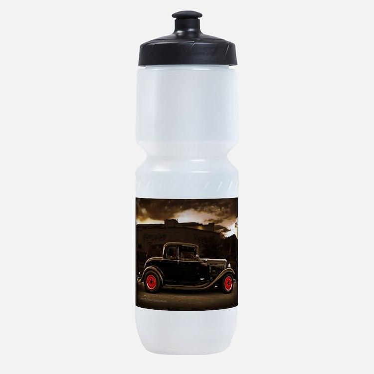 1932 black ford 5 window Sports Bottle