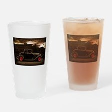 1932 black ford 5 window Drinking Glass