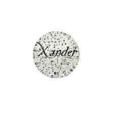 Xander, Matrix, Abstract Art Mini Button