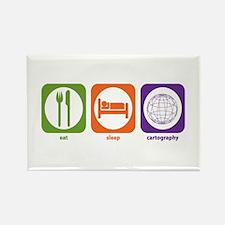 Eat Sleep Cartography Rectangle Magnet