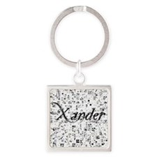 Xander, Matrix, Abstract Art Square Keychain