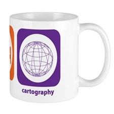 Eat Sleep Cartography Small Mug