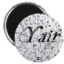 Yair, Matrix, Abstract Art Magnet