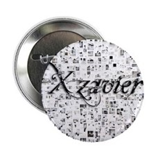 "Xzavier, Matrix, Abstract Art 2.25"" Button"