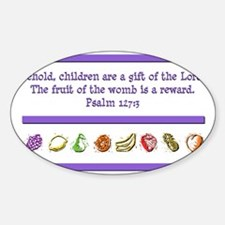 Psalm 127:3 Sticker (Oval)