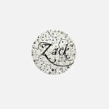 Zack, Matrix, Abstract Art Mini Button