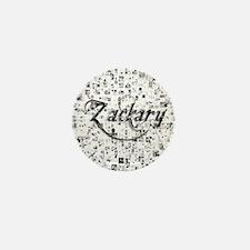 Zackary, Matrix, Abstract Art Mini Button