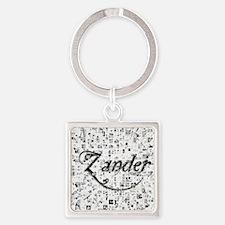 Zander, Matrix, Abstract Art Square Keychain