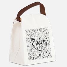 Zakary, Matrix, Abstract Art Canvas Lunch Bag