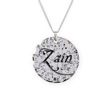 Zain, Matrix, Abstract Art Necklace Circle Charm