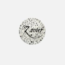 Zavier, Matrix, Abstract Art Mini Button