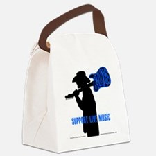 Tom Sillouette with BLUES-Support Canvas Lunch Bag