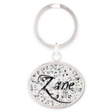 Zane, Matrix, Abstract Art Oval Keychain