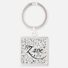 Zane, Matrix, Abstract Art Square Keychain
