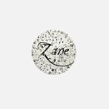 Zane, Matrix, Abstract Art Mini Button