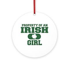 Property of an Irish Girl Ornament (Round)
