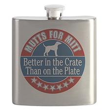 Mutts for Mitt Flask