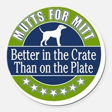 Mutts for Mitt Round Car Magnet