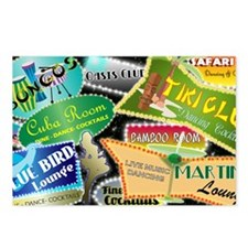 RETRO NIGHT CLUBS SHOULDE Postcards (Package of 8)