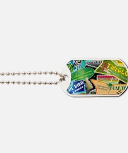 RETRO-NIGHT-CLUBS-MINI-WALLET Dog Tags